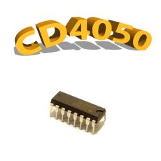 CD4050BP - Buffer/ Convertisseur, 3 V à 15 V, DIP-14 , CD4050, 4050