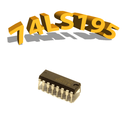 74LS195 - REGISTRE À DÉCALAGE, DIP16