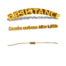 Résistance 1,5 kohm à couche Carbone 1/4W