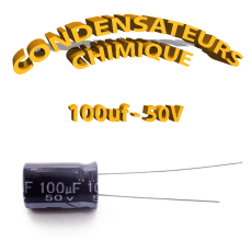Condensateur chimique 100uF 50V