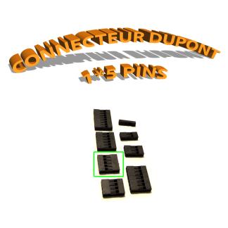Connecteur Dupont 1x5