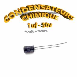 Condensateur chimique 1uF 50V