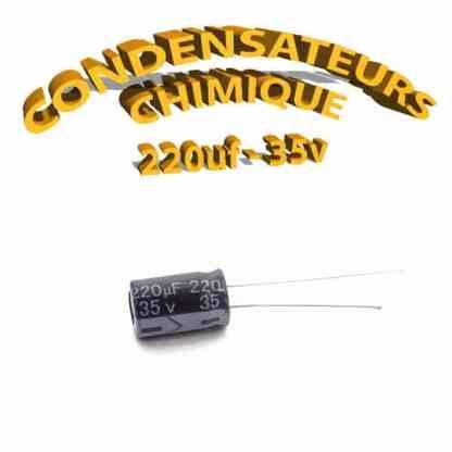 Condensateur chimique 220uF 35V