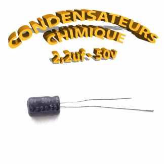 Condensateur chimique 2,2uF 50V