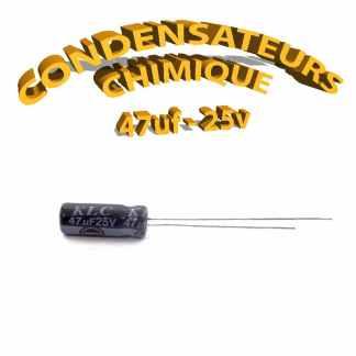 Condensateur chimique 47uF 25V
