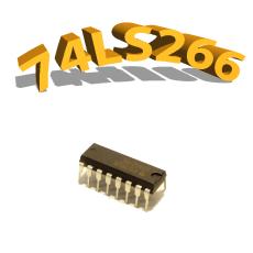74LS266 - Porte logique Non OU - DIP14