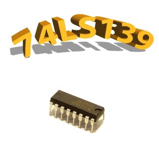 74LS139 - décodeur multiplexeur, DIP16