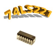 74LS221 - Monostable Multi-vibrateur, DIP16