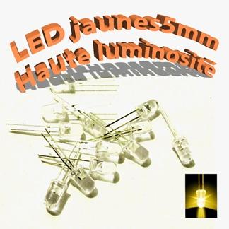 led jaune 5mm