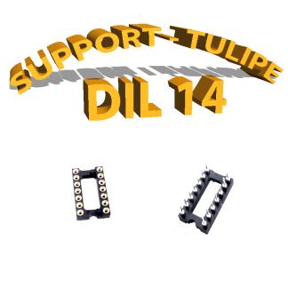 Support tulipe - DIL 14 Noir
