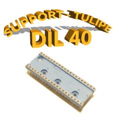 Support tulipe - DIL 40 Bleu