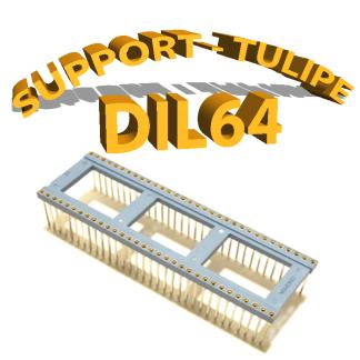 Support tulipe - DIL 64 Bleu
