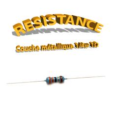 Résistance 1 ohm métallique 1/4W 1%