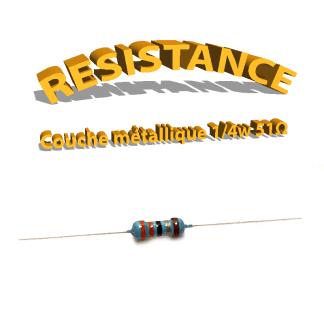 Résistance 51 ohm métallique