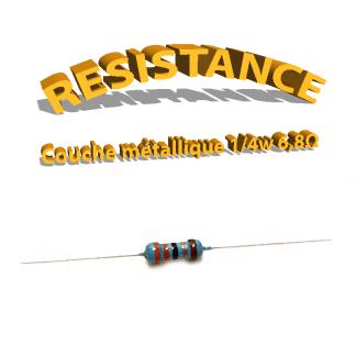 Résistance 6,8 ohm métallique