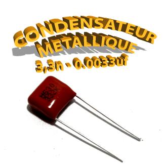 Condensateur à film 3,3nF 0.0033uf 630V