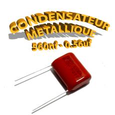 Condensateur à film 560nF 0.56uf 630V