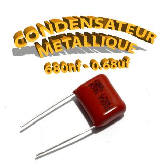 Condensateur à film 680nF 0.68uf 630V
