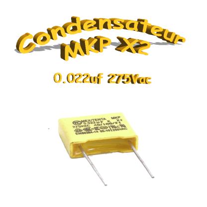 Condensateur Polypropylène 22nf .022uf MKP x2 275Vac