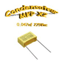 Condensateur Polypropylène 47nf .047uf MKP x2 275Vac