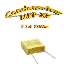 Condensateur Polypropylène MKP x2 100nf-0.1uf 275Vac