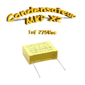 Condensateur Polypropylène 1uf MKP x2 275Vac