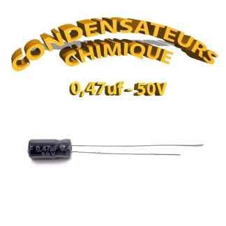 Condensateur chimique 0,47uF 50V