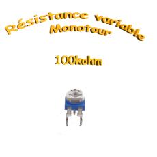 résistance variable mono-tours 100kohm, Potentiomètre ajustable 100kohm