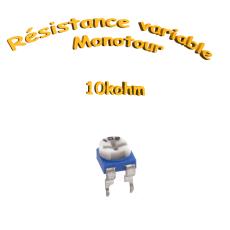 résistance variable mono-tours 10kohm, Potentiomètre ajustable 10kohm