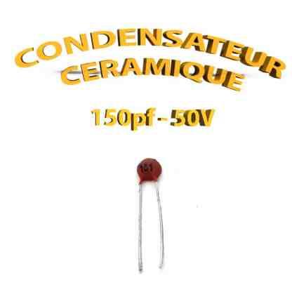 Condensateur Céramique 150pf - 151 - 50V