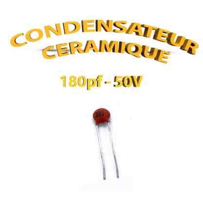 Condensateur Céramique 180pf - 181 - 50V