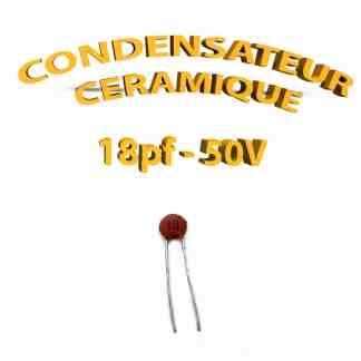 Condensateur Céramique 18pf - 18 - 50V