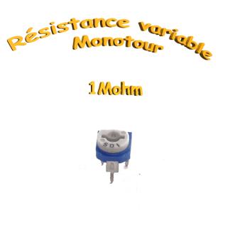 résistance variable mono-tours 1Mohm,Potentiomètre ajustable 1Mohm