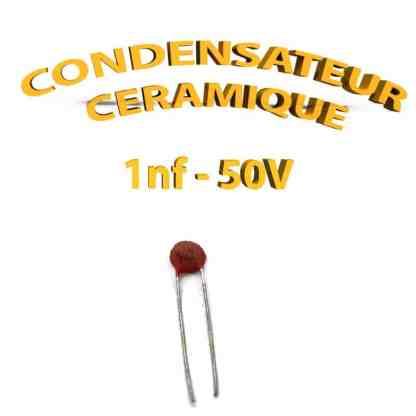 Condensateur Céramique 1nf - 102 - 50V