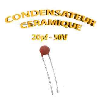 Condensateur Céramique 20pf - 20 - 50V