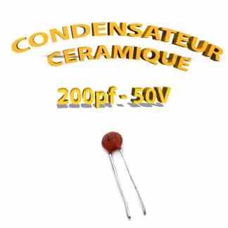 Condensateur Céramique 200pf - 201 - 50V