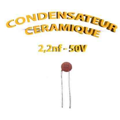 Condensateur Céramique 2,2nf - 222 - 50V