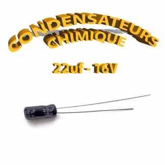 Condensateur chimique 22uF 16V