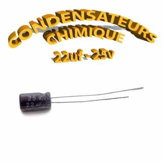 Condensateur chimique 22uF 25V