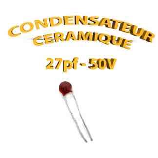 Condensateur Céramique 27pf - 27 - 50V