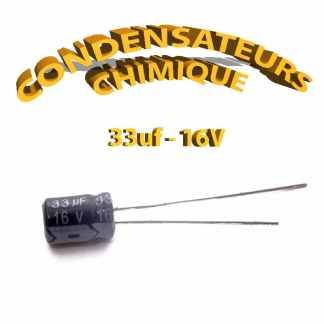 Condensateur chimique 33uF 16V