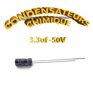Condensateur chimique 3,3uF 50V