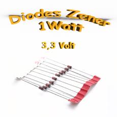 Diode zener 3V3 - 1W - 1N4728A