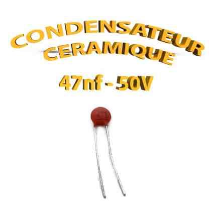 Condensateur Céramique 47nf - 473 - 50V