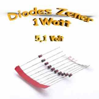 Diode zener 5V1 - 1n4733A - 1 Watt -BZX85C5V1
