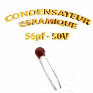Condensateur Céramique 56pf - 56 - 50V