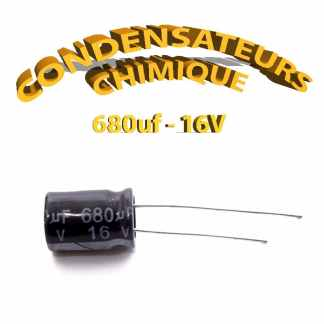 Condensateur chimique 680uF 16V