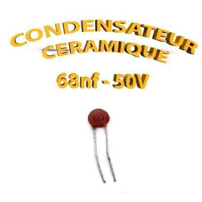 Condensateur Céramique 68nf - 683 - 50V