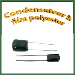 Condensateur à film polyester 100volt 220pf à 0.22uf