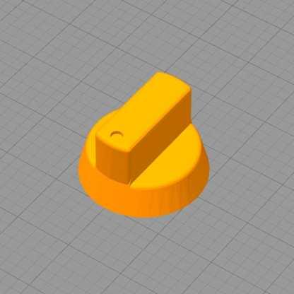 Bouton de remplacement plancha / gazinières en 3D